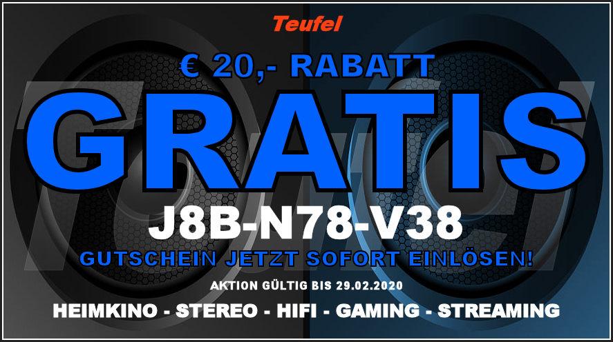Teufel J8B-N78-V38 - Gutschein